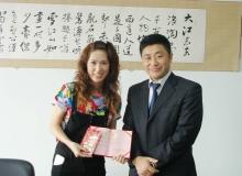 日语过级实习生回国后接受表彰